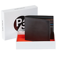Buy Paul Smith City Bifold Leather Wallet, Black Online at johnlewis.com