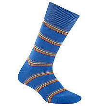 Buy Paul Smith Multi Stripe Block Socks, One Size, Blue Online at johnlewis.com