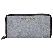 Buy Kurt Geiger Felt Zip Around Wallet Purse, Grey Online at johnlewis.com