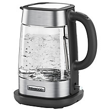 Buy Kenwood ZJG800CL Persona Glass Kettle, Chrome Online at johnlewis.com