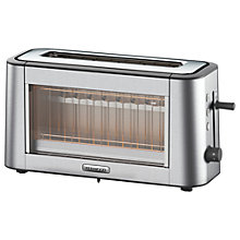 Buy Kenwood TOG800CL Persona Glass 2-Slice Toaster, Chrome Online at johnlewis.com