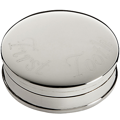 Carrs First Tooth Box, Sterling Silver