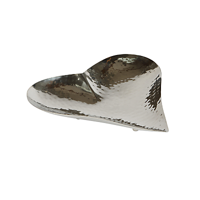 Culinary Concepts Champagne Hammered Heart Dish, Small