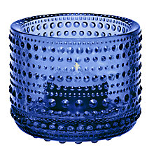Buy Iittala Kastehelmi Votive Vase, H6cm, Blue Online at johnlewis.com