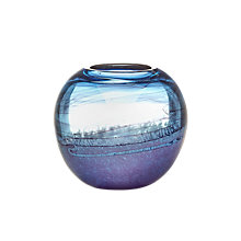 Buy Voyage Elemental Althea Ball Vase, H18cm, Lapis Online at johnlewis.com