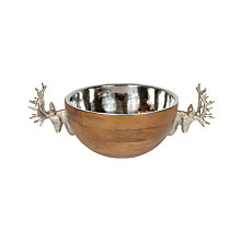 Buy Culinary Concepts Wooden Stag Bowl, Medium Online at johnlewis.com