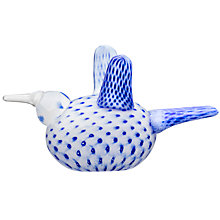 Buy Iittala Annual Bird 2017 Ornament, White / Blue Online at johnlewis.com