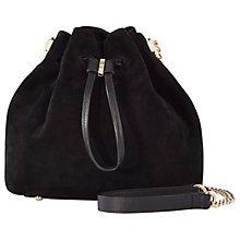 Buy Karen Millen Small Drawstring Tote Bag, Black Online at johnlewis.com