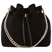 Buy Karen Millen Large Drawstring Tote Bag, Black Online at johnlewis.com