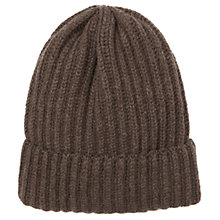 Buy Jigsaw Sian Chunky Rib Hat, Chocolate Online at johnlewis.com