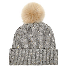 Buy Jigsaw Hana Donegal Pom Hat Online at johnlewis.com