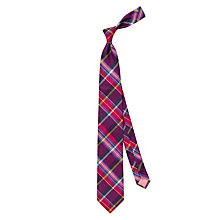 Buy Thomas Pink Neyland Check Woven Silk Tie Online at johnlewis.com