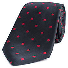 Buy Thomas Pink Barton Spot Woven Silk Tie Online at johnlewis.com