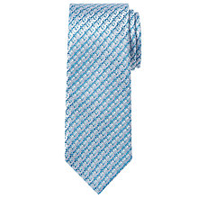 Buy Richard James Mayfair Dobby Silk Tie, Sky Online at johnlewis.com