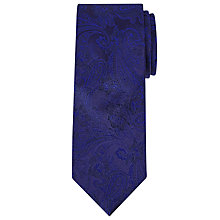 Buy Richard James Mayfair Paisley Silk Tie, Navy Online at johnlewis.com