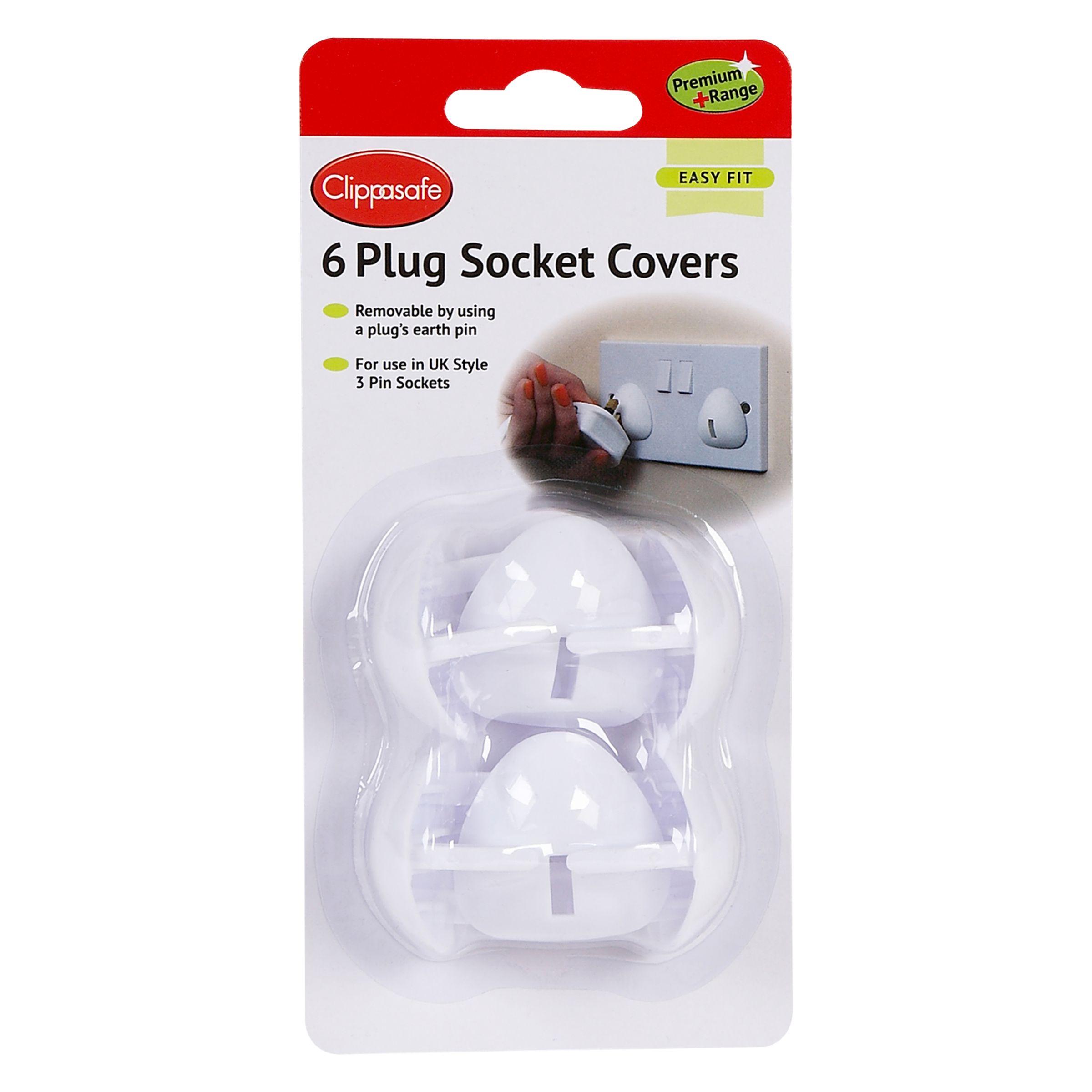 Clippasafe Clippasafe Plug Socket Covers, Pack of 6, White