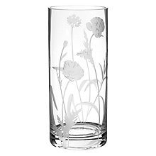 Buy John Lewis Oriental Poppy Column Vase, H28cm, Clear Online at johnlewis.com