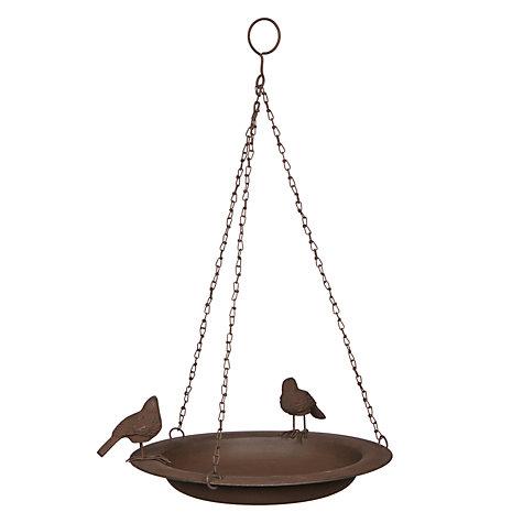 Buy Ivyline Cast Iron Hanging Bird Bath Bronze John Lewis