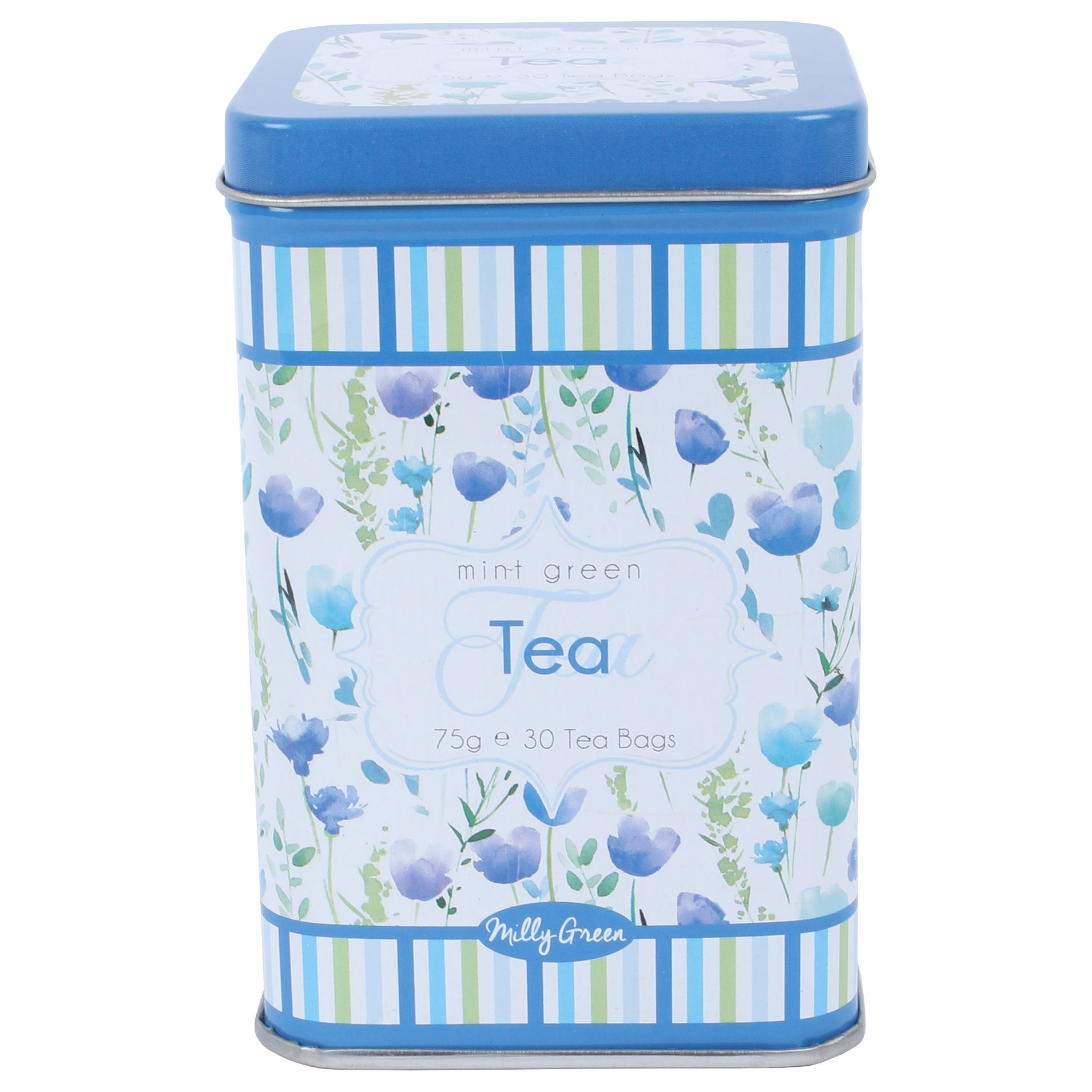 Milly Green Milly Green Garden Mint Tea In a Floral Tin, 75g