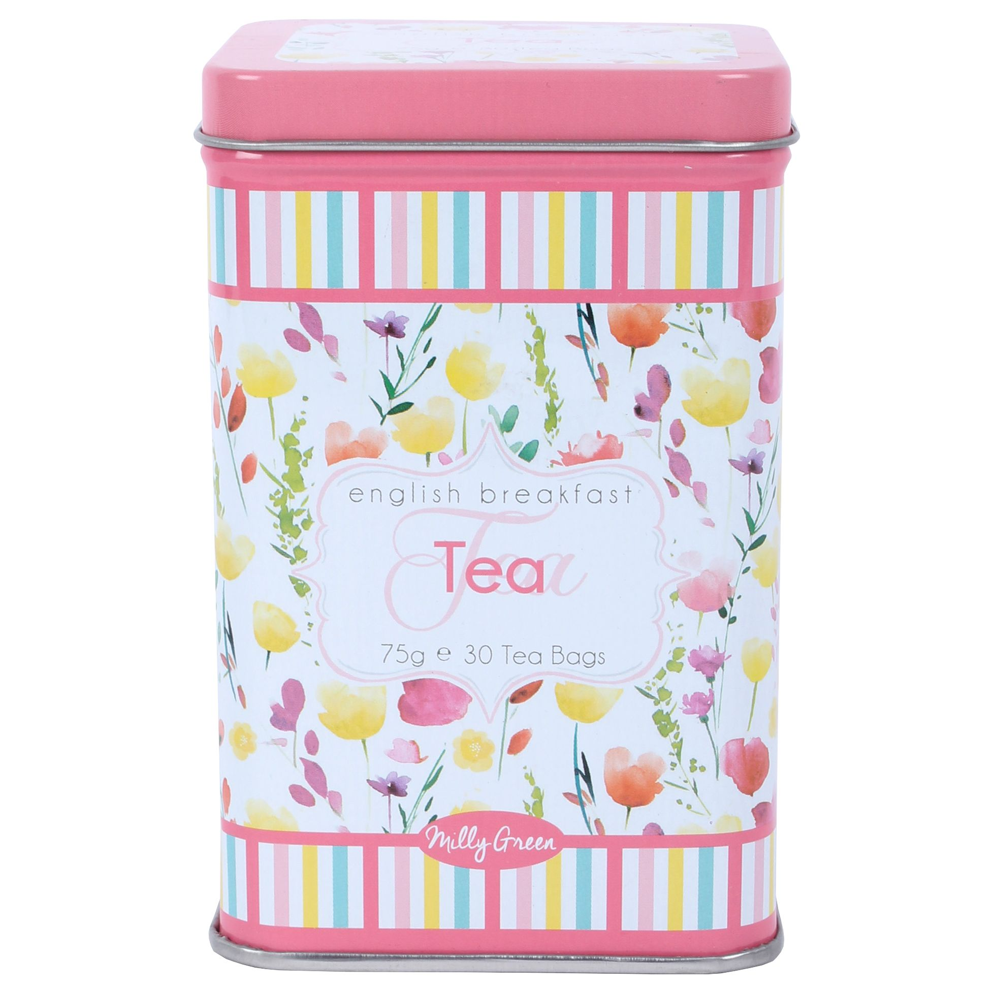 Milly Green Milly Green English Breakfast Tea In A Floral Tin, 75g