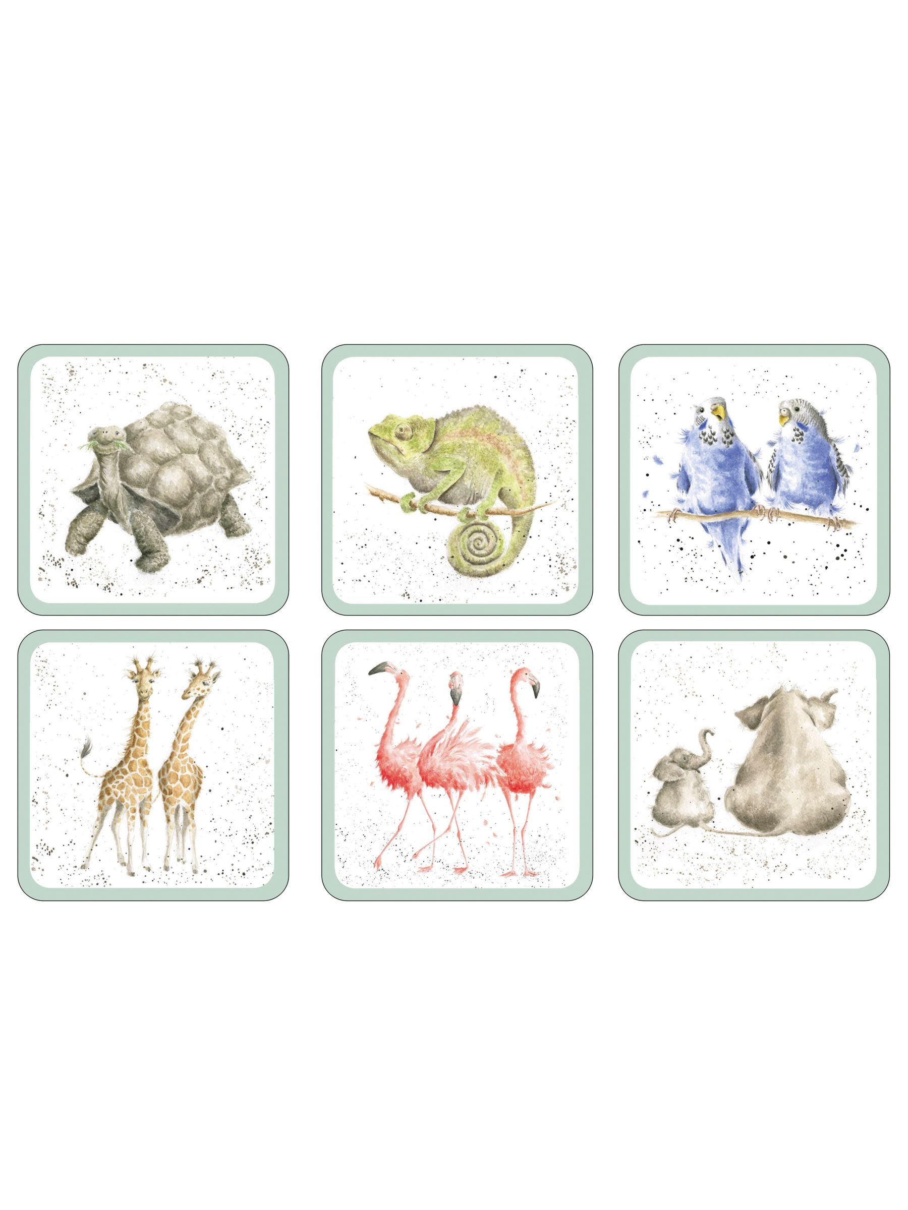 Pimpernel Pimpernel Wrendale Zoological Coaster, Set of 6
