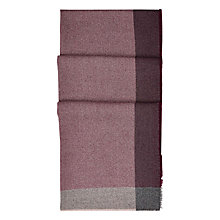 Buy Hobbs Harriet Border Scarf, Berry/Multi Online at johnlewis.com