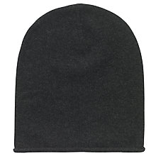 Buy hush Cashmere Beanie Hat, Charcoal Marl Online at johnlewis.com