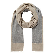 Buy East Wool Mix Border Scarf, Greystone Online at johnlewis.com