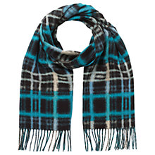 Buy East Modern Check Scarf, Teal Online at johnlewis.com