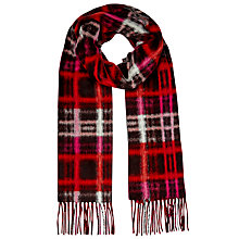 Buy East Modern Check Scarf, Red Online at johnlewis.com
