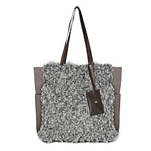 Buy White Stuff Faux Suede Shopper, Grey Online at johnlewis.com