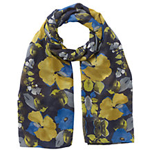 Buy East Catrin Print Scarf, Cobalt Online at johnlewis.com