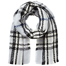 Buy East Checked Scarf, Blue Online at johnlewis.com