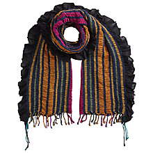 Buy East Stripe Woven Ruched Scarf, Multi Online at johnlewis.com