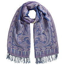 Buy East Paisley Border Scarf, Heather Online at johnlewis.com