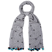 Buy White Stuff Cats And Spots Scarf, Grey Online at johnlewis.com