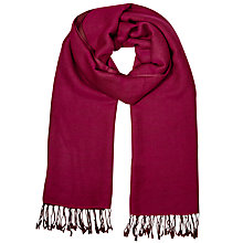 Buy East Wool Reversible Scarf, Magenta Online at johnlewis.com