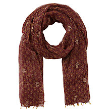 Buy East Anokhi Arden Scarf, Raisin Online at johnlewis.com