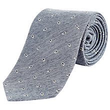 Buy Jeager Melange Paisley Silk Tie Online at johnlewis.com