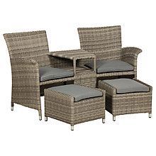 Buy Royalcraft Windsor Fixed Companion Set With Stools, Grey Online at johnlewis.com