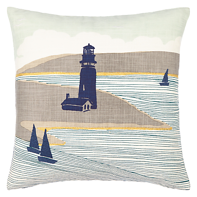 John Lewis Lighthouse Cushion, Multi