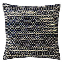 Buy west elm Silk Stacked Diamonds Cushion, Nightshade Online at johnlewis.com