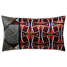 Buy west elm Silk Trellis Cushion, Wine Online at johnlewis.com