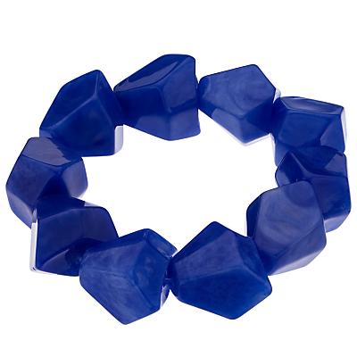 John Lewis Asymmetric Bead Stretch Bracelet, Deep Blue