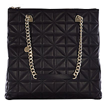 Buy Karen Millen Quilted Chain Handle Shoulder Bag, Black Online at johnlewis.com