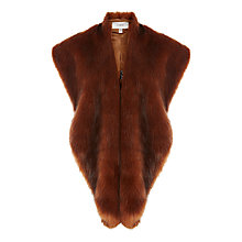 Buy Coast Poppy Oversized Faux Fox Stole, Tan Online at johnlewis.com