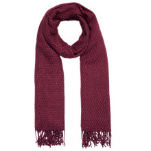 Buy Jacques Vert Metallic Weave Scarf, Dark Red Online at johnlewis.com