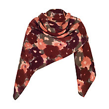 Buy Chesca Soft Floral Print Blanket Scarf, Cranberry Online at johnlewis.com