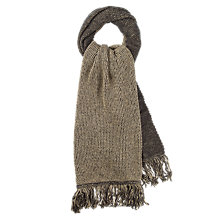 Buy hush Diana Scarf, Charcoal/Camel Online at johnlewis.com
