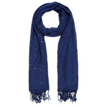 Buy Jacques Vert Sequin Scarf, Dark Blue Online at johnlewis.com